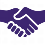 purple handshake icon 2